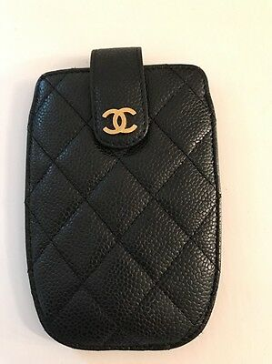 Chanel iPhone 5 Black Leather Mobile Phone Case