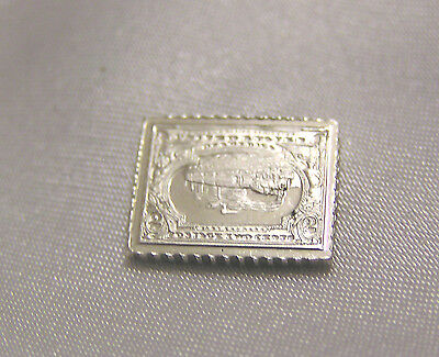 SOLID SILVER STAMP UNITED STATES of AMERICA 1901 TWO-CENT PAN-AMERICAN INVERT