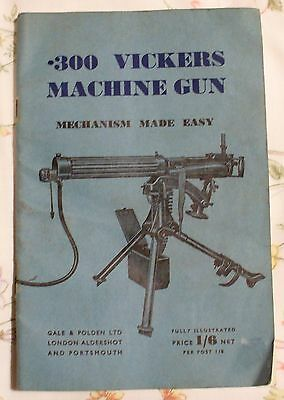 Original Ww2 Manual .300 Vickers Machine Gun Manual