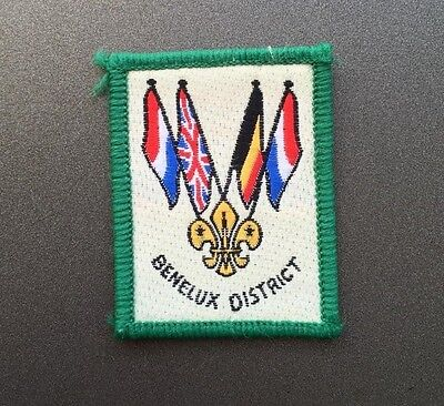 BSWE Benelux District / UK Scout badge / British Scouts Western Europe