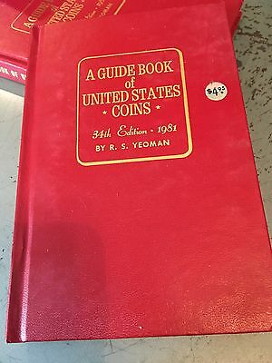 A Guide Book To United States Coins 34th Edition,1981