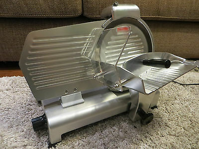 """Modena 10"""" Commercial Meat Slicer w/Auto Sharpener and New Blade"""