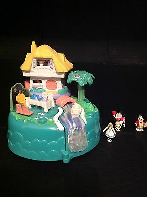 Vintage Polly pocket Disney Alice in wonderland complete with figures