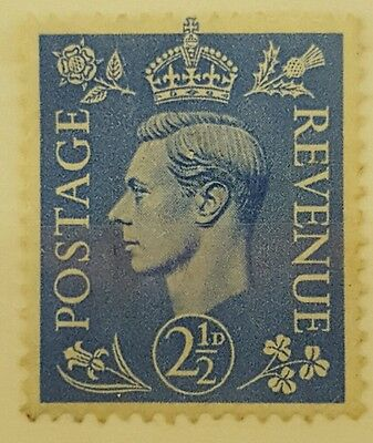 GB stamps King George VI 1937 , 2 and 1/2 D , Mint stamp unused
