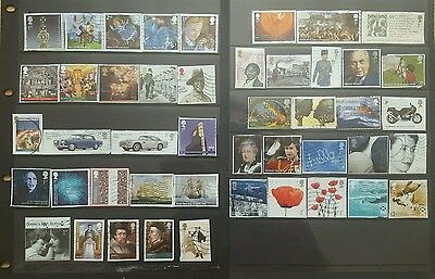 Modern GB commemorative stamps collection up to 2015, on paper