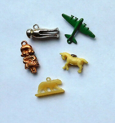 Lot of 5 Vintage Cracker Jack Charm/Prizes