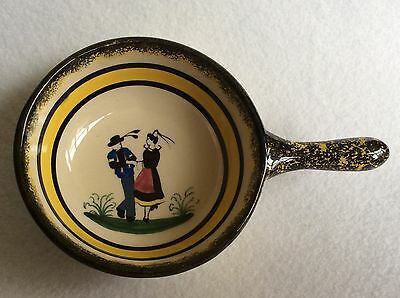 Henriot Quimper Small Dish With Handle