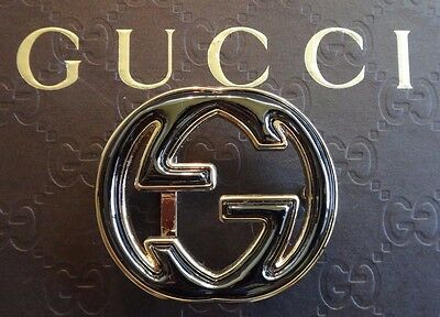 GUCCI Belt Buckle Authentic Gold and metallic Bronze Black