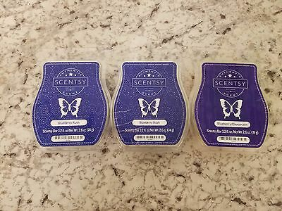 NEW SCENTSY 3.2oz WAX BAR Blueberry Rush Blueberry Cheesecake  FREE SHIPPING