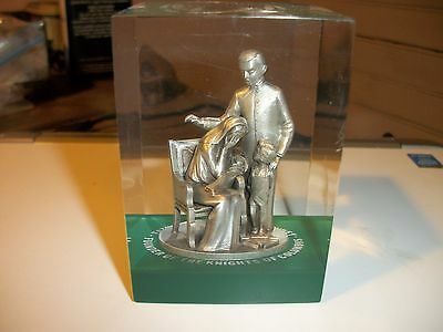 RARE Father Michael J McGivney Knights of Columbus Acrylic Plastic Paperweight