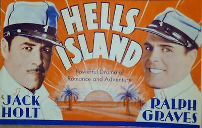 1930 Movie 'hells Island'  Theatre Flyer Promo Ad From Columbia Pict Free Ship