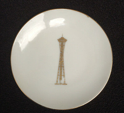 """1962 Seattle World's Fair """"Space Needle""""  Tower RING DISH WALL HANGING PLATE"""