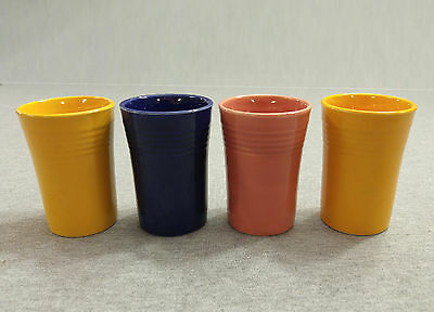 Vintage Fiesta Lot of 4 Juice Tumblers - Issues - Fiestaware