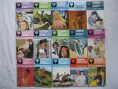 15 Vintage Black Rose Romance Mills & Boon Job Lot 4 from Collection 70s/80s