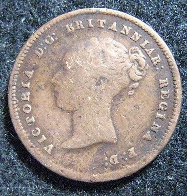 1842 Great Britain 1/2 Farthing KM# 738 circulated
