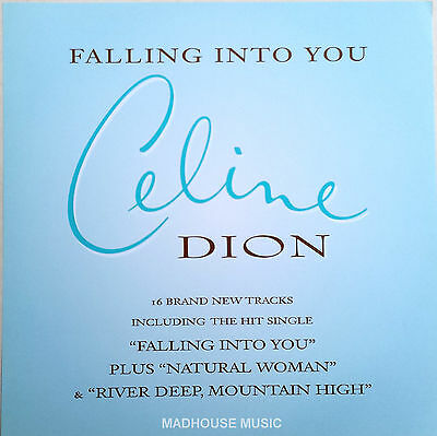 "CELINE DION Display Card Falling Into You UK PROMO ONLY Rare 12"" x 12"" Poster"