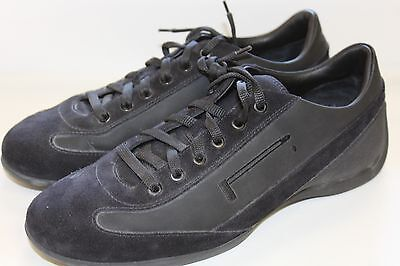 PIRELLI Suede Leather & Canvas Men's Black Sneakers Shoes Size US 9