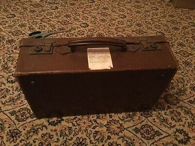 Vintage Real Cowhide Small Travel Case