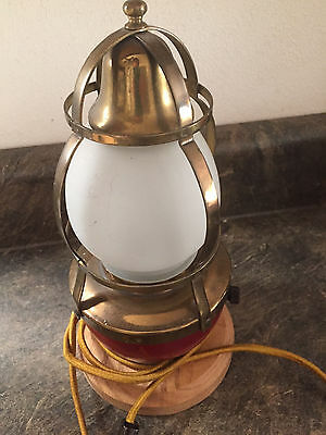 Vintage Nautical Buoy Lamp - Rocking with Bell 1940's