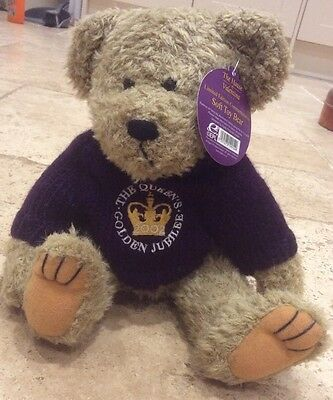 Collectable Teddy bear - House Of Valentina Queens golden jubilee 2002