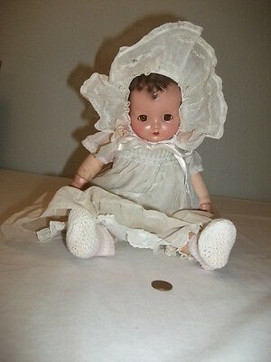 "Vintage R&b Arranbee 14"" Composition Angel Baby Doll Original 1940's Exc."