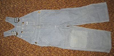 vintage LEE OVERALLS boys Union Made SANFORIZED Button Fly Knee patch ENGINEER