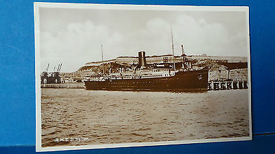 Jersey Channel Islands Postcard RMS Ship St Helier Real Photo. 1940