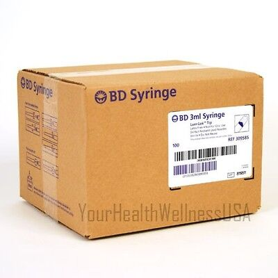 BD Syringe 3ml 25 Gauge 5/8 Inch Needle 100/box Perfect for Testosterone inject!
