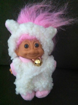 Troll Doll Russ Vintage Very Rare Easter Lamb Original Toy Retro Collectable