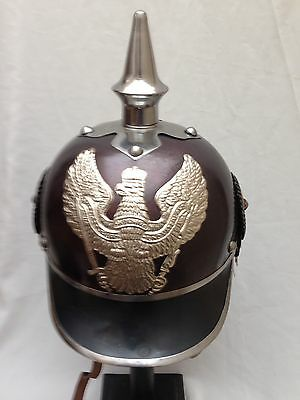 German Prussian Officers PickelHaube Round Helmet With Leather Inner(B Grade)