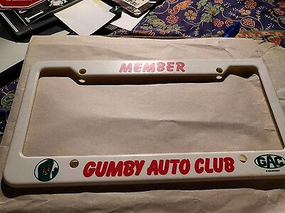 GUMBY AND POKEY Gumby license plate  holder VINTAGE New collectible
