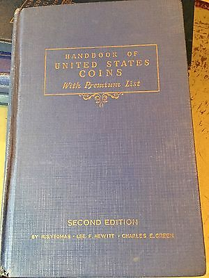 Handbook Of United States Coins(blue Book) Second Edition(1943)