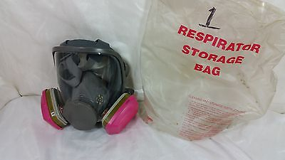3M 6800 Full Face Air Filtration Gas Mask Medium #1 Used W Filters Calc Shipping