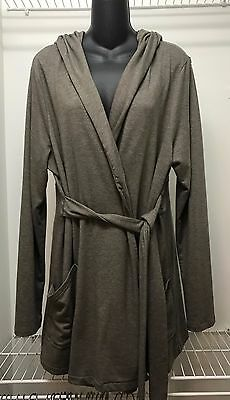 Old Navy Maternity Hooded Sweater Jacket Size XL Khaki Brown VGUC