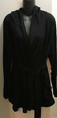 Old Navy Maternity Hooded Sweater Jacket Size XL Classic Black VGUC
