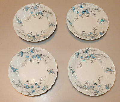 4 Vintage Myott Forget Me Not Staffordshire Berry Bowls Sauce