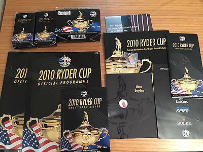 Ryder Cup 2010 Memorabilia - Ideal For A Collector