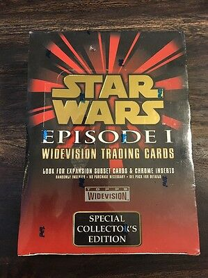 Star Wars Episode 1 Widevision Topps Sealed Box 36 Packs Trading Cards NEW