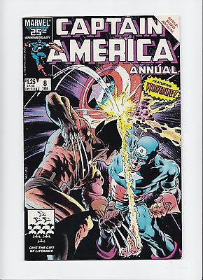 Captain America Annual #8 Wolverine Fight Battle Mike Zeck Gruenwald VF/NM 9.0