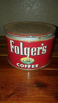 antique folgers coffee can