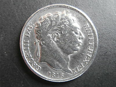 1816 Silver sixpence George III in very good condition