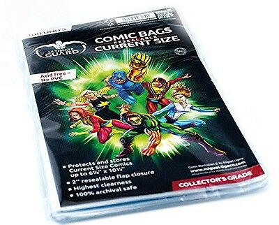 Ultimate Guard Comic Bags Resealable (Current Size, Pack of 100)