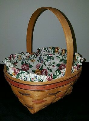 1995 Easter Longaberger Basket With Liner And Protector And Tie On Excellent