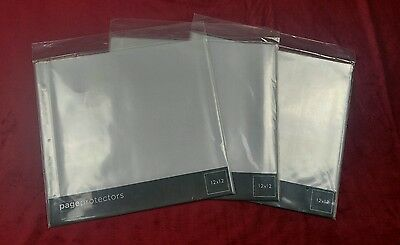 """Lot of 3 American Crafts Page Protectors Top-Loading 12""""X12"""" 10/Pkg (II)"""