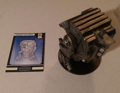 Star Wars Miniatures 2007 Force Unleashed TELOSIAN TANK DROID 57/60 with Card