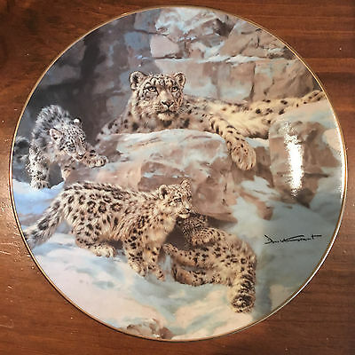 """Collector Plate Bradford Exchange """"The Snow Queen"""" Plate by D. Grant 1993 w/ COA"""