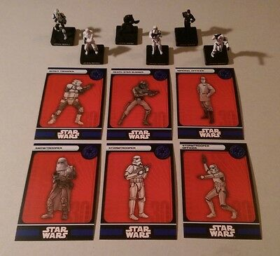 Star Wars Miniatures 2007 Alliance & Empire IMPERIAL FIGURES with Cards Set of 6