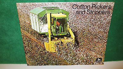 John Deere Cotton Pickers and Strippers brochure from 1973 on 699, 499, mint.