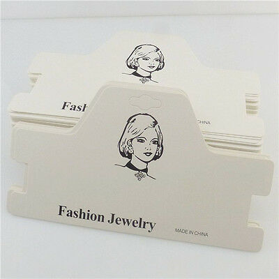 HY-A9463 20pcs White Fashion Jewelry Paper Necklace Choker Package Display Card