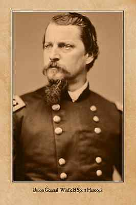 Union General Winfield Scott Hancock CIVIL WAR RP VINTAGE PHOTOGRAPH